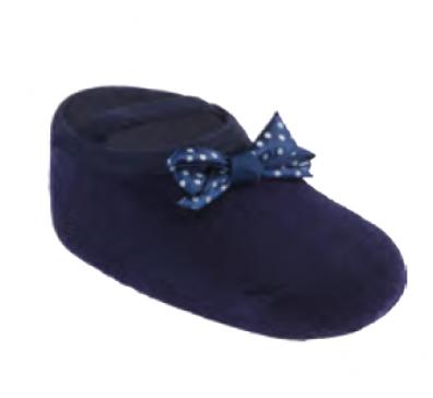Meia Azul Cano Curto Festa - Pimpolho