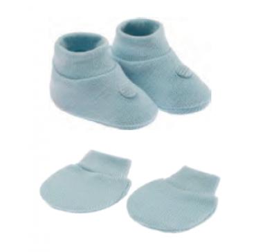 Kit Masculino Presente Recém Nascido Azul (Sapatinho e Luva) - Pimpolho