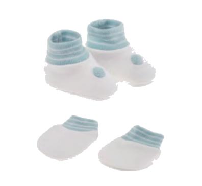 Kit Unissex Presente Recém Nascido Branco (Sapatinho e Luva) - Pimpolho