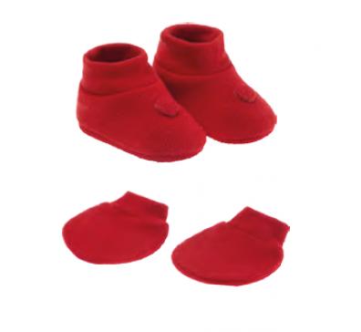 Kit Unissex Presente Recém Nascido Vermelho (Sapatinho e Luva) - Pimpolho
