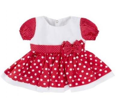 Saída De Maternidade 05 Peças Menina Charmosa Vermelho e Branco