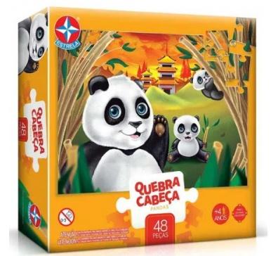 Quebra-Cabeça Grandão Pandas 48 peças - Estrela
