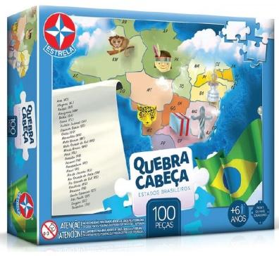 Quebra-Cabeça Grandão Estados Brasileiros 100 peças - Estrela