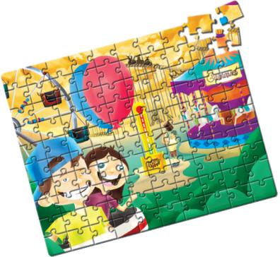 Quebra-Cabeça Grandão Parque de Diversões 100 peças - Estrela