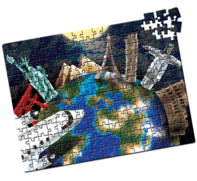 Quebra-Cabeça Capitais do Mundo 200 peças - Estrela
