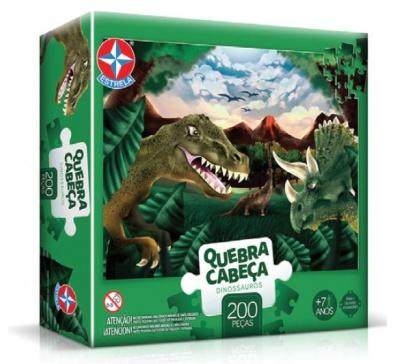 Quebra-Cabeça Dinossauros 200 peças - Estrela
