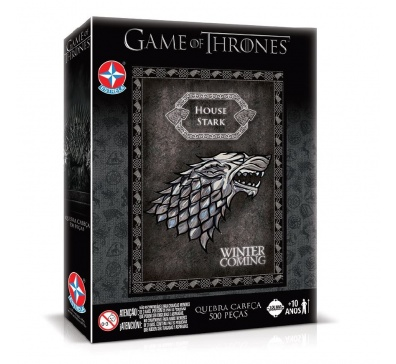 Quebra-Cabeças Game of Thrones - House Stark - 500 peças - Estrela