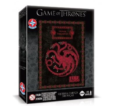 Quebra-Cabeças Game of Thrones - House Targaryen - 500 peças - Estrela