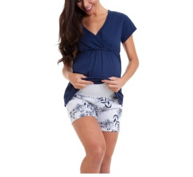 Pijama Bermudoll Gestante Feminino - Luna Cuore 6001