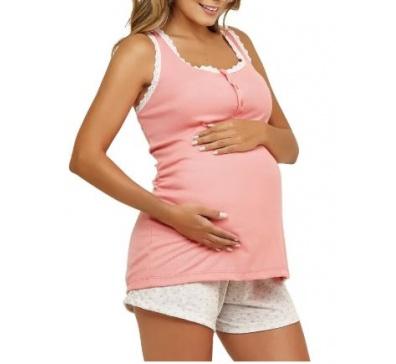 45a34f58a Pijama Short Doll Gestante - Luna Cuore 5907