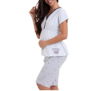 Pijama Feminino Gestante - Luna Cuore 6008
