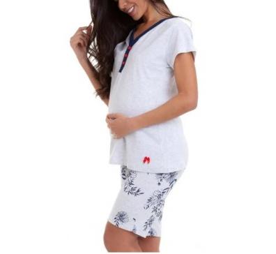 Pijama Feminino Estampado Gestante - Luna Cuore 6004