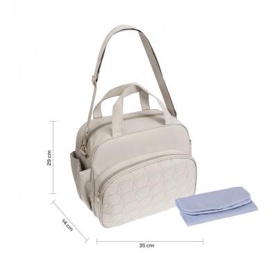 Bolsa Maternidade Branca com Trocador Pimpolho